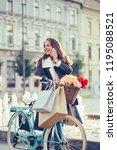 beautiful young smiling woman... | Shutterstock . vector #1195088521
