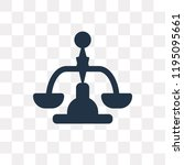balance vector icon isolated on ... | Shutterstock .eps vector #1195095661