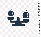 balance vector icon isolated on ... | Shutterstock .eps vector #1195095727