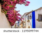 streets of obidos. portugal.... | Shutterstock . vector #1195099744