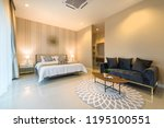 luxury interior design in...   Shutterstock . vector #1195100551