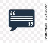 testimonial vector icon... | Shutterstock .eps vector #1195102054