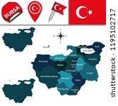 vector map of bursa  turkey... | Shutterstock .eps vector #1195102717