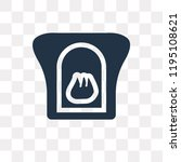fireplace vector icon isolated... | Shutterstock .eps vector #1195108621