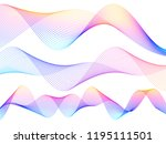 wave of the many colored lines. ... | Shutterstock .eps vector #1195111501