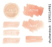 peach watercolor background ... | Shutterstock .eps vector #1195114981