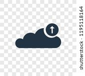 upload to cloud vector icon...   Shutterstock .eps vector #1195118164