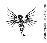 vector image of a black dragon... | Shutterstock .eps vector #1195128781