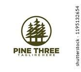 pine logo design. pine tree... | Shutterstock .eps vector #1195132654