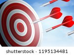red arrows competition darts go ... | Shutterstock .eps vector #1195134481