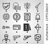 simple set of  16 outline icons ...   Shutterstock . vector #1195136614