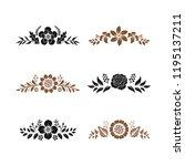 floral monogram paper cut out... | Shutterstock .eps vector #1195137211