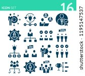 simple set of 16 icons related... | Shutterstock . vector #1195147537