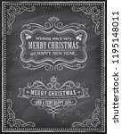 vector christmas greeting card... | Shutterstock .eps vector #1195148011