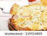 pizza quattro fromaggi on a... | Shutterstock . vector #119514805