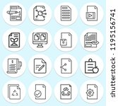 simple collection of document... | Shutterstock . vector #1195156741