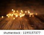Golden christmas lights on...