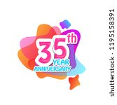 35 th logo anniversary and icon ... | Shutterstock .eps vector #1195158391
