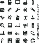 solid black flat icon set zoom... | Shutterstock .eps vector #1195167544