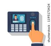 finger print scan.... | Shutterstock .eps vector #1195173424