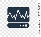 cardiogram vector icon isolated ... | Shutterstock .eps vector #1195176991