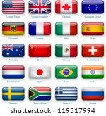 button flags  most popular... | Shutterstock .eps vector #119517994
