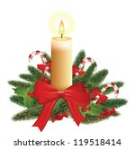 christmas candle combined width ... | Shutterstock .eps vector #119518414