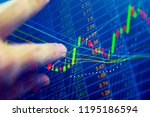 stock market quotes which...   Shutterstock . vector #1195186594