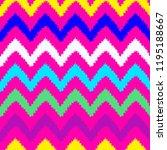 shevron seamless pattern in... | Shutterstock .eps vector #1195188667