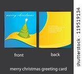 vector merry christmas greeting ... | Shutterstock .eps vector #119519134