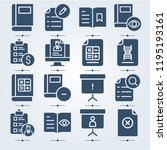 simple set of 16 icons related... | Shutterstock . vector #1195193161