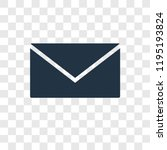 mail vector icon isolated on... | Shutterstock .eps vector #1195193824