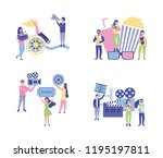 movie people production | Shutterstock .eps vector #1195197811