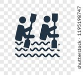 kayak vector icon isolated on...   Shutterstock .eps vector #1195198747