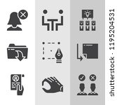 simple collection of business... | Shutterstock . vector #1195204531