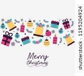 merry christmas card | Shutterstock .eps vector #1195204924