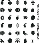 solid black flat icon set peper ... | Shutterstock .eps vector #1195207207