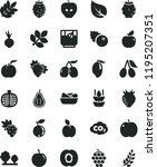 solid black flat icon set...   Shutterstock .eps vector #1195207351