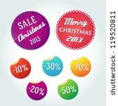 set of christmas sales labels.... | Shutterstock .eps vector #119520811