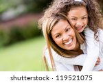 happy mother and daughter... | Shutterstock . vector #119521075