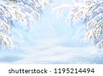 winter christmas scenic... | Shutterstock . vector #1195214494