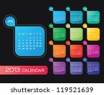 Vector Calendar 2013. Simple...