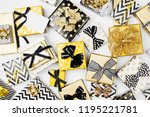 flat lay christmas or party... | Shutterstock . vector #1195221781
