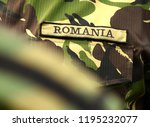 romania military uniform.... | Shutterstock . vector #1195232077