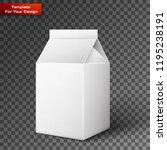 milk  juice  beverages  carton... | Shutterstock .eps vector #1195238191