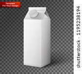 milk  juice  beverages  carton... | Shutterstock .eps vector #1195238194