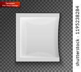 blank white plastic sachet for... | Shutterstock .eps vector #1195238284
