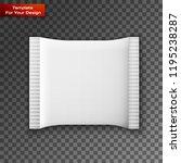 blank white plastic sachet for... | Shutterstock .eps vector #1195238287