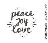 peace joy love. christmas logo  ... | Shutterstock .eps vector #1195240444