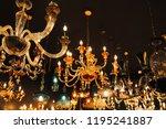 luxury retro style chandelier... | Shutterstock . vector #1195241887